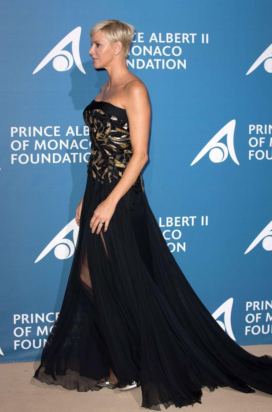 La princesse Charlène de Monaco à Monaco, le 28 septembre 2017