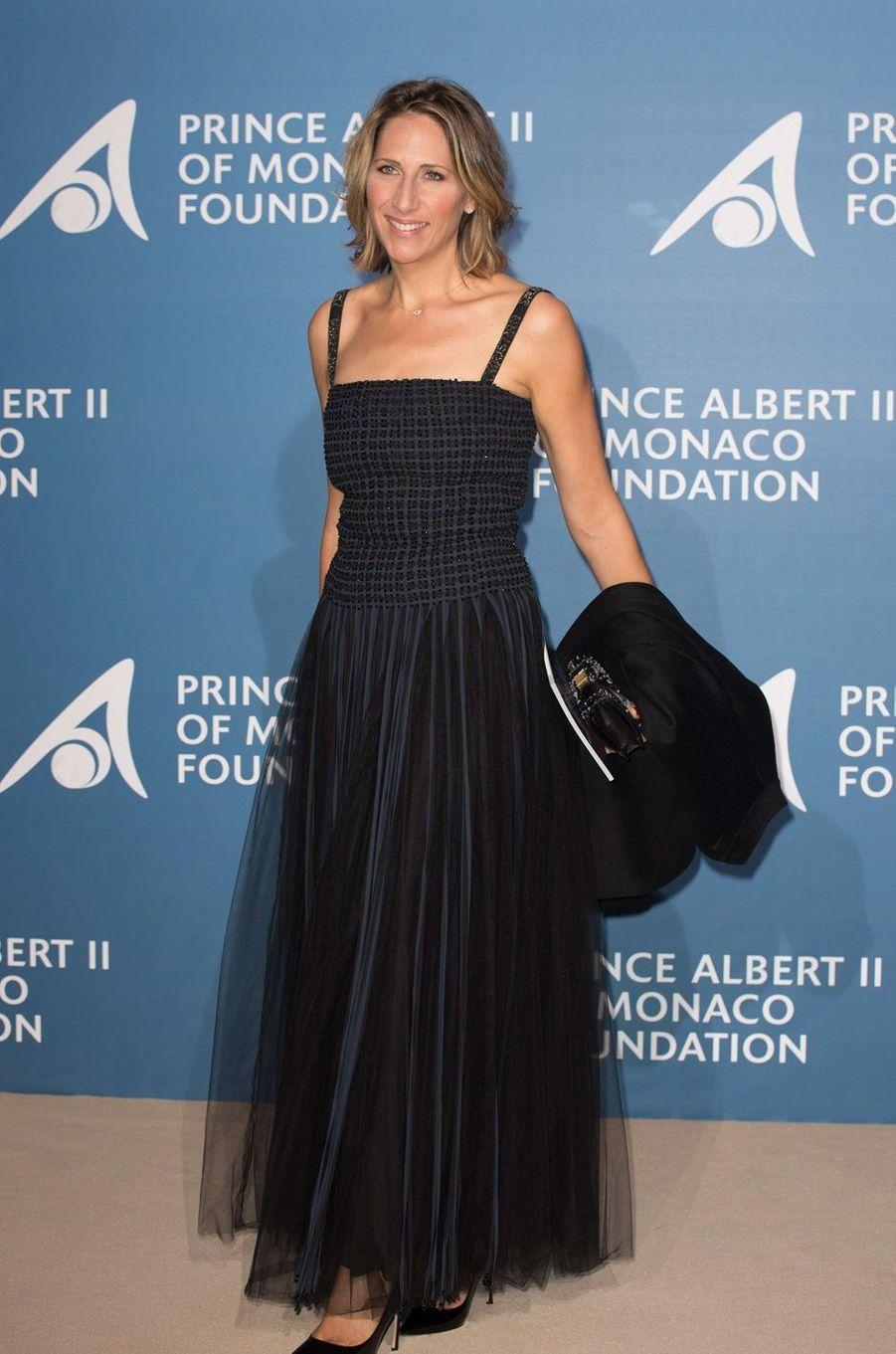 Maud Fontenoy au Monte-Carlo Gala pour l'Océan à Monaco, le 28 septembre 2017