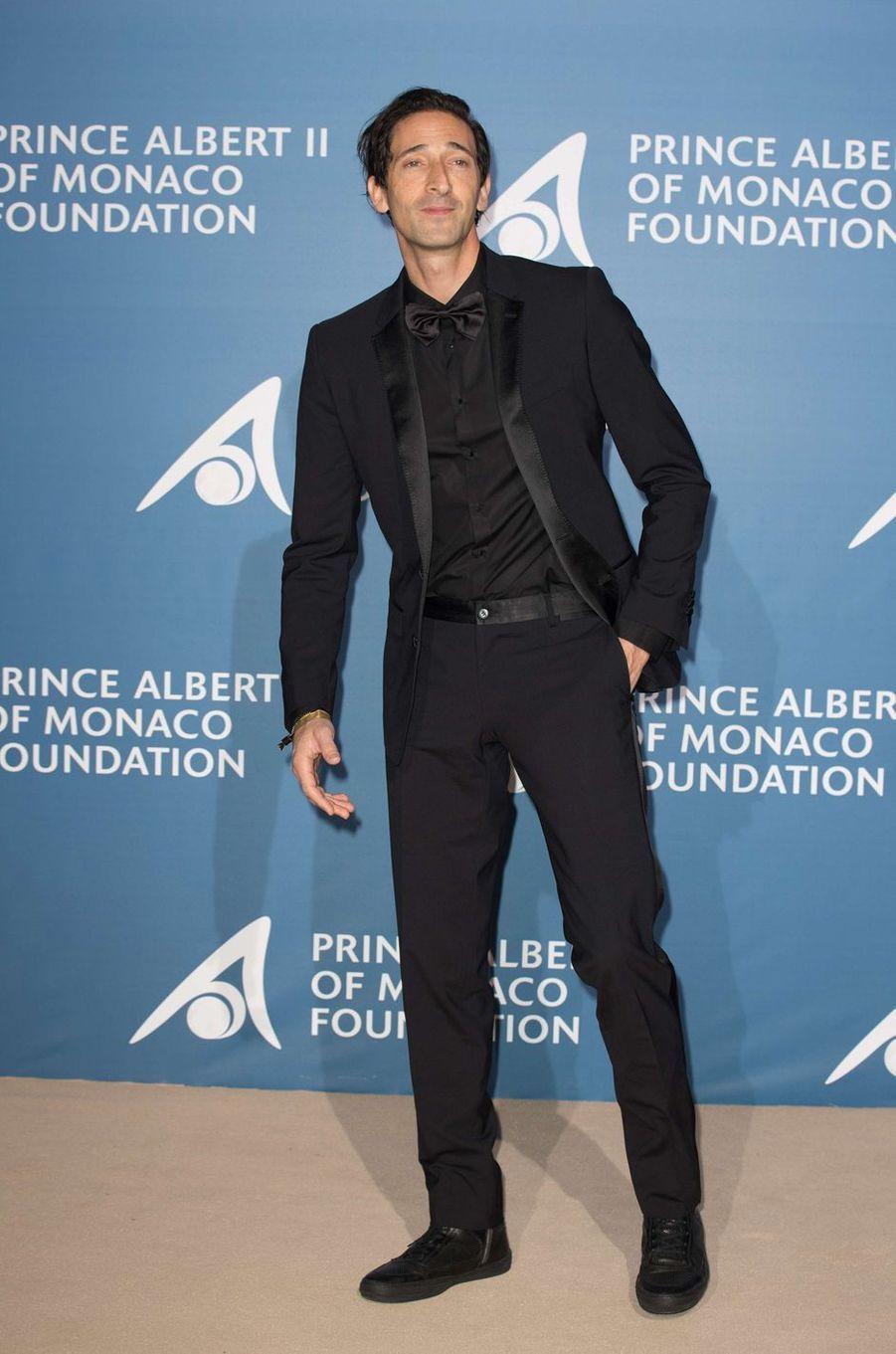 Adrien Brody au Monte-Carlo Gala pour l'Océan à Monaco, le 28 septembre 2017