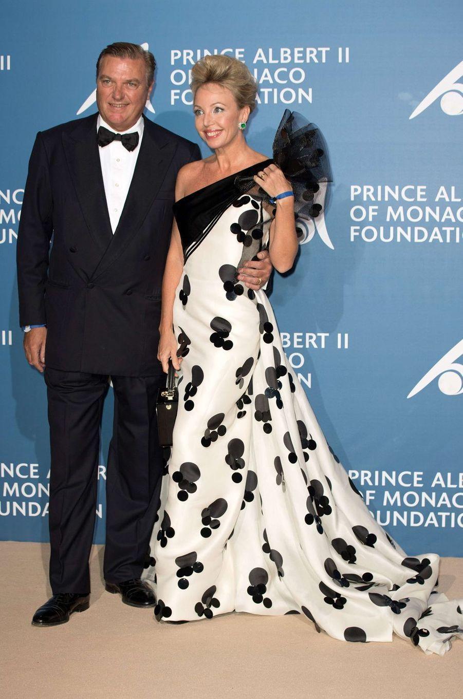 La princesse Camilla et le prince Charles de Bourbon des Deux Siciles au Monte-Carlo Gala pour l'Océan à Monaco, le 28 septembre 2017