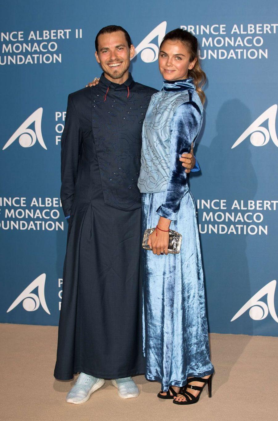 Jack O'Connell et Cara Delevingne au Monte-Carlo Gala pour l'Océan à Monaco, le 28 septembre 2017