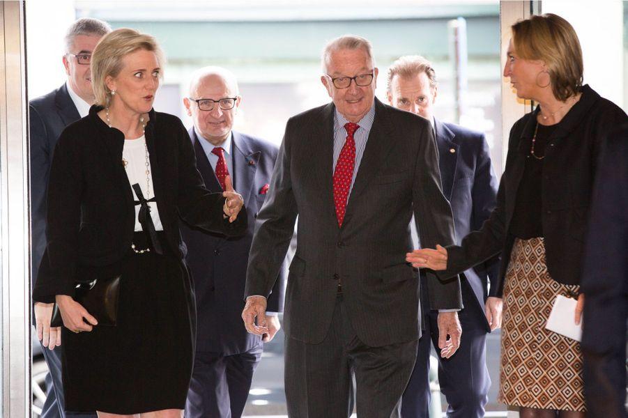L'ex-roi Albert II et la princesse Astrid de Belgique à Bruxelles, le 2 avril 2015