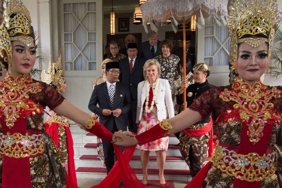 La princesse Astrid de Belgique à Badung, le 17 mars 2016