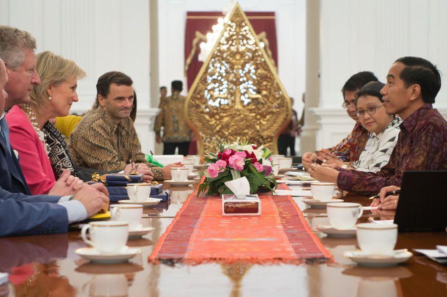 La princesse Astrid de Belgique à Jakarta, le 15 mars 2016