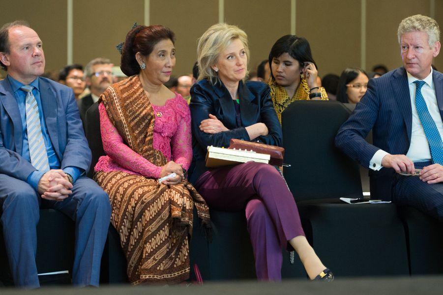 La princesse Astrid de Belgique à Jakarta, le 16 mars 2016