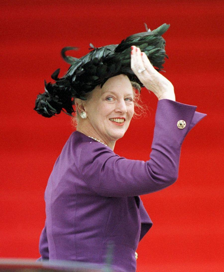 La reine Margrethe II de Danemark, à Bruxelles le 4 décembre 1999