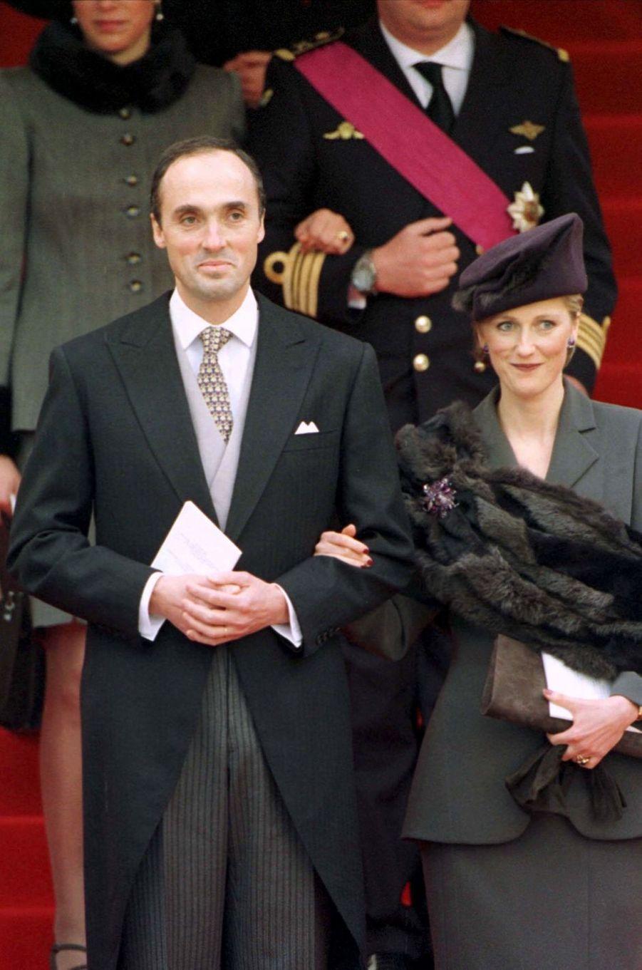 La princesse Astrid de Belgique et le prince Lorenz, à Bruxelles le 4 décembre 1999