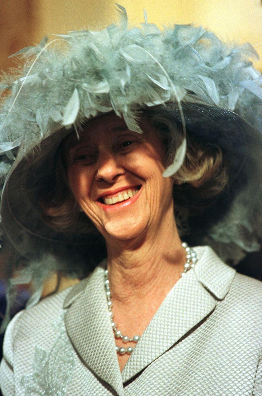 L'ex-reine des Belges Fabiola, à Bruxelles le 4 décembre 1999