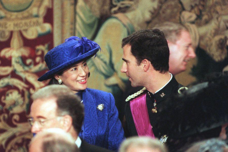 La princesse Masako du Japon et le prince Felipe d'Espagne, à Bruxelles le 4 décembre 1999