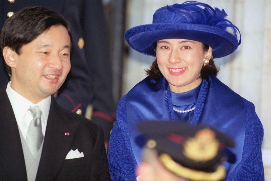 La princesse Masako et le prince Naruhito du Japon, à Bruxelles le 4 décembre 1999