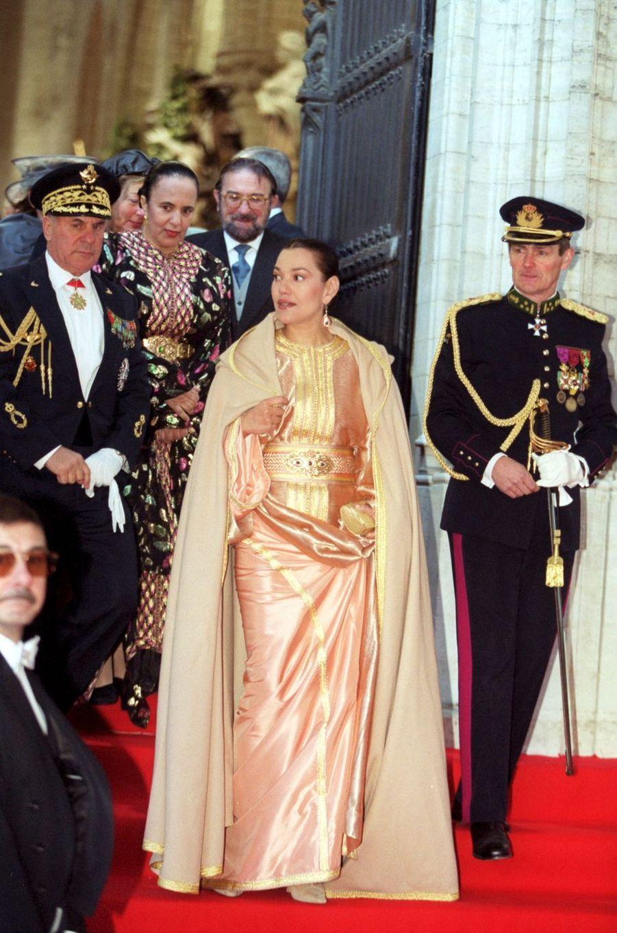 La princesse Hasnaa du Maroc, à Bruxelles le 4 décembre 1999