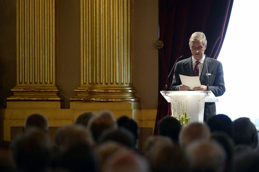 Le roi Philippe de Belgique au Palais royal à Bruxelles, le 8 octobre 2015