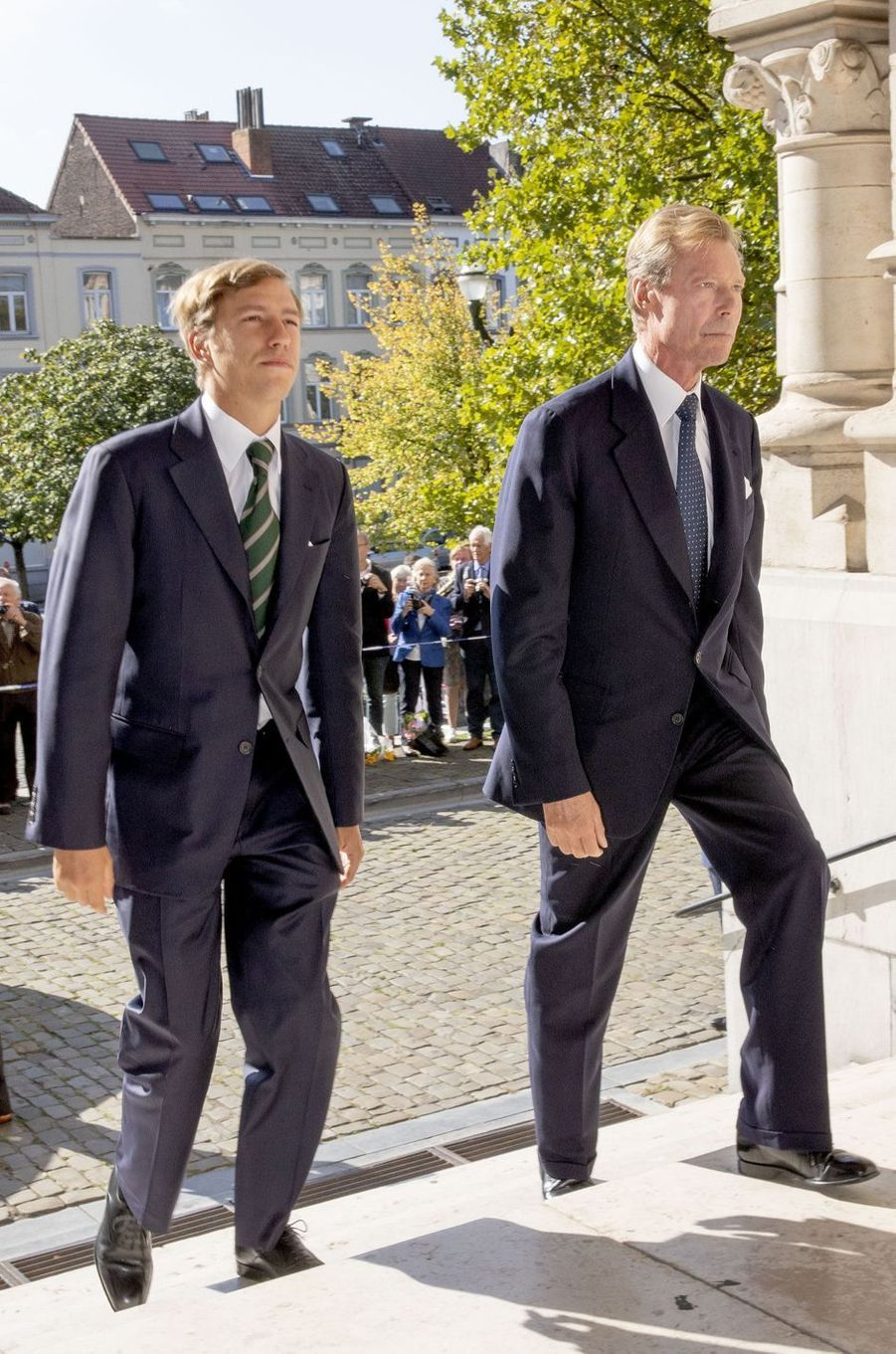 Le prince Louis et le grand-duc Henri de Luxembourg à Laeken, le 8 septembre 2018