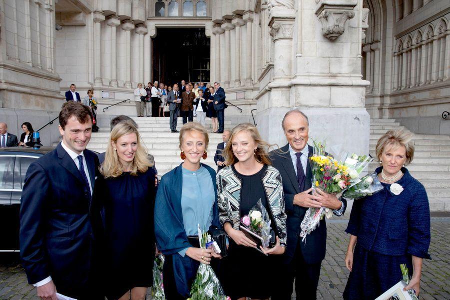 La princesse Astrid de Belgique et sa famille à Laeken, le 8 septembre 2018