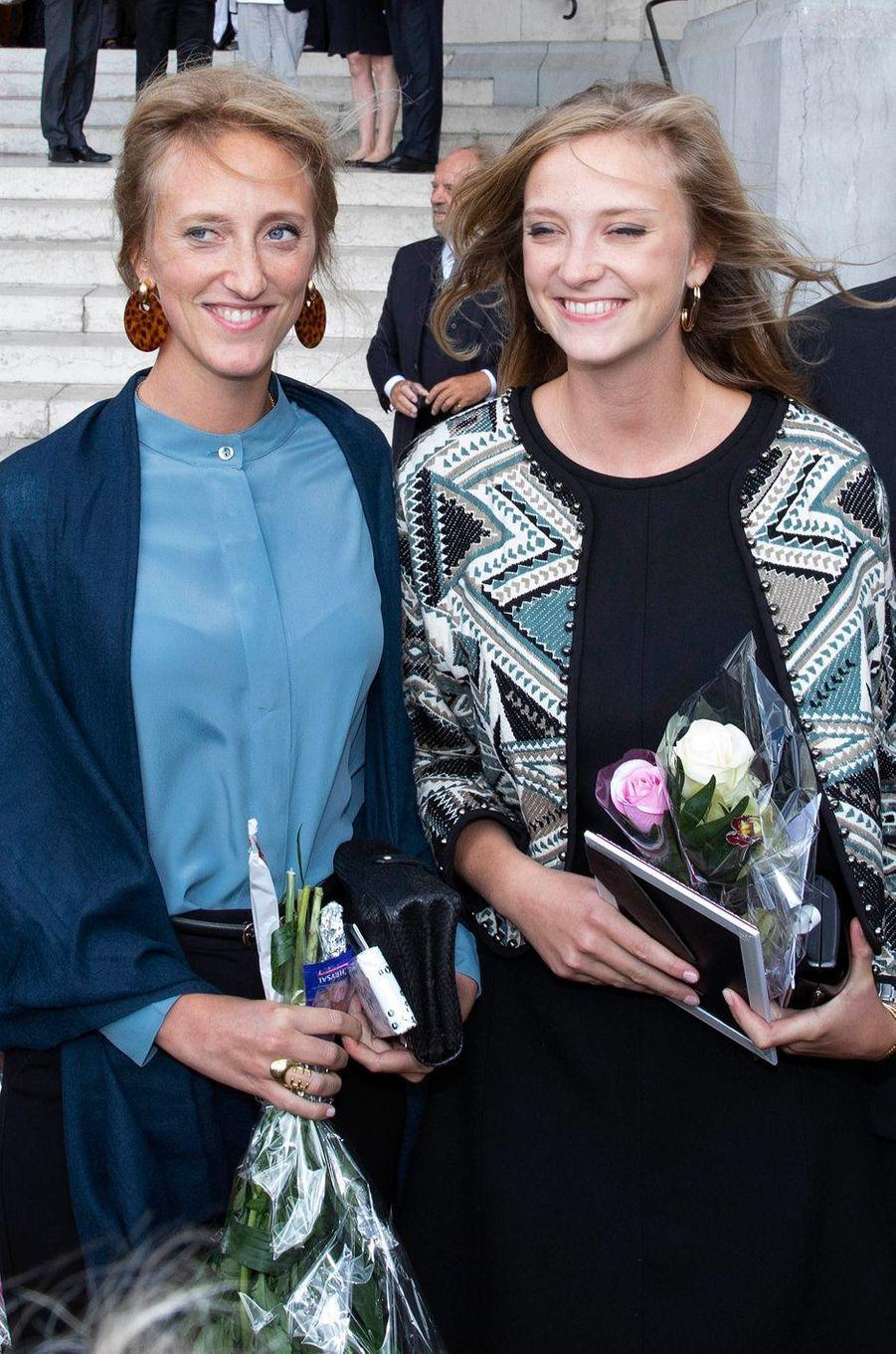 Les princesses Maria Laura et Luisa Maria de Belgique à Laeken, le 8 septembre 2018