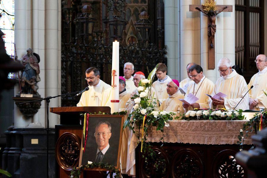 Photo du roi des Belges Baudouin lors de la messe en sa mémoire à Laeken, le 8 septembre 2018
