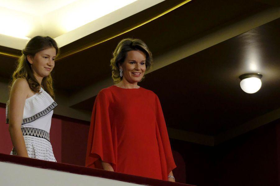 La princesse Elisabeth de Belgique et la reine des Belges Mathilde à Bruxelles, le 3 juin 2017