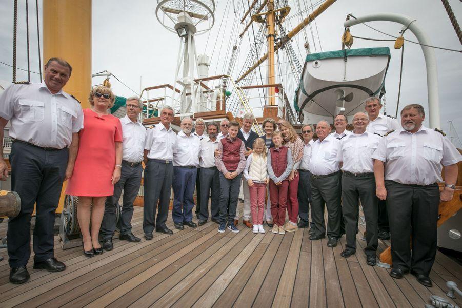 La famille royale belge à Ostende, le 1er juillet 2017