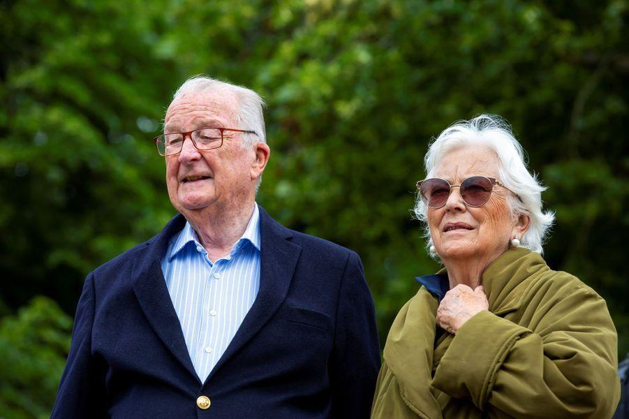 L'ex-reine Paola et l'ex-roi des Belges Albert II, le 28 juin 2020 à Botassart