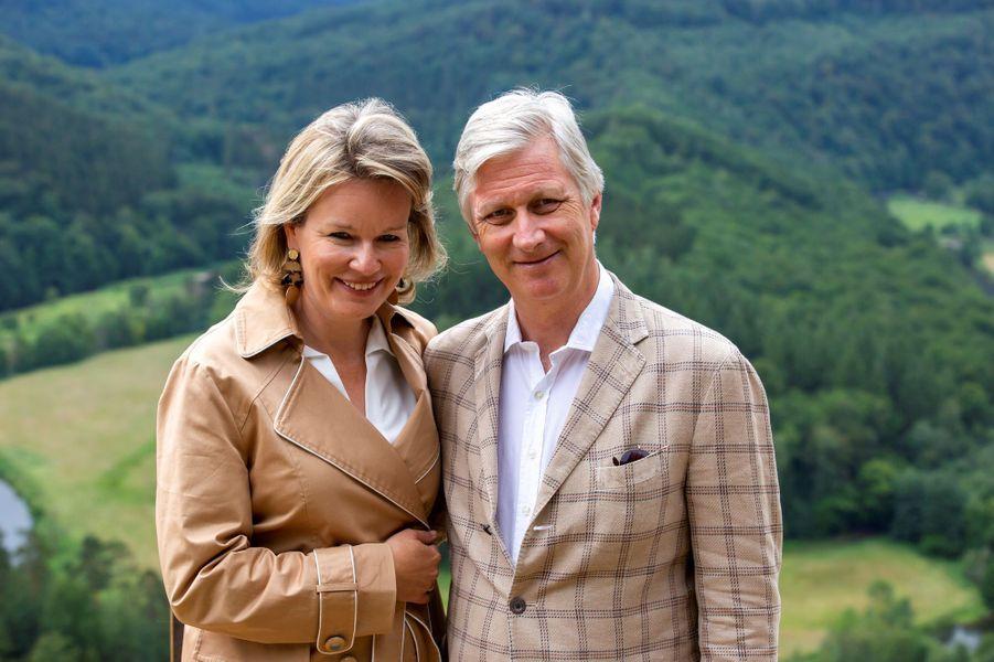 La reine Mathilde et le roi des Belges Philippe à Botassart, le 28 juin 2020