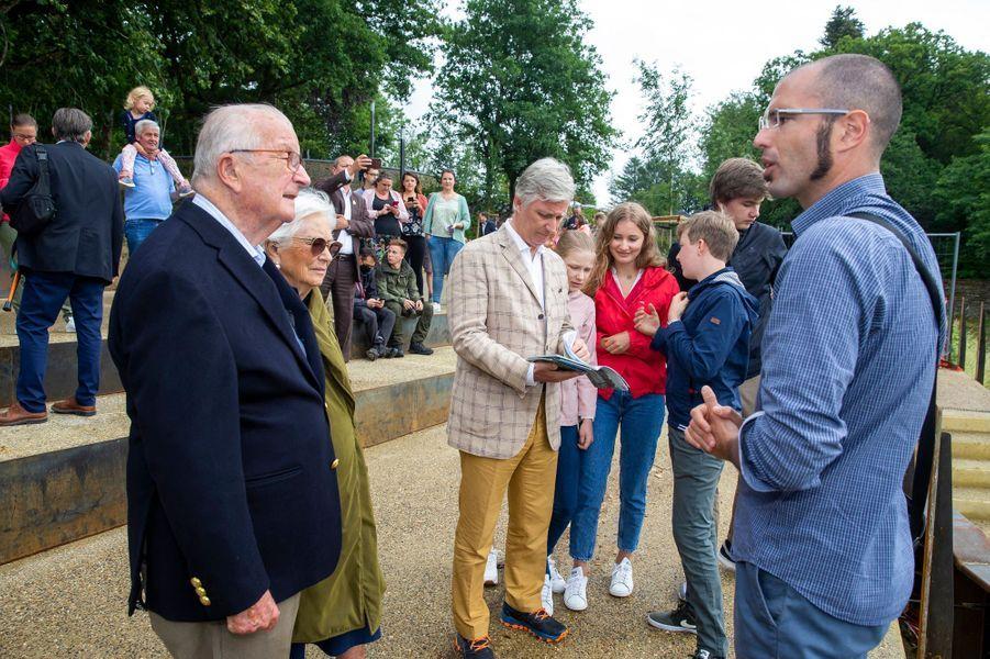 La famille royale de Belgique à Botassart, le 28 juin 2020