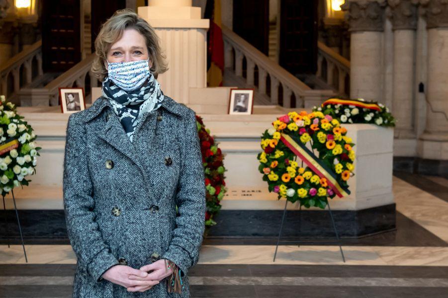 La princesse Delphine de Saxe-Cobourg à Laeken le 17 février 2021