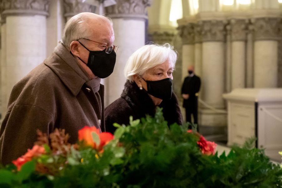 L'ex-reine Paola et l'ex-roi des Belges Albert II, à Laeken le 17 février 2021