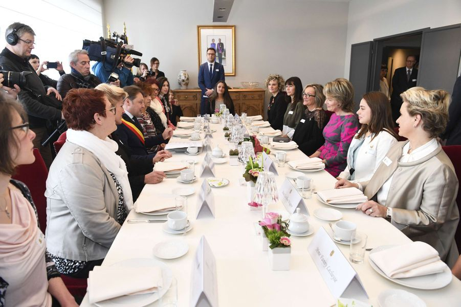 La reine Mathilde de Belgique à Mons, le 7 mars 2017