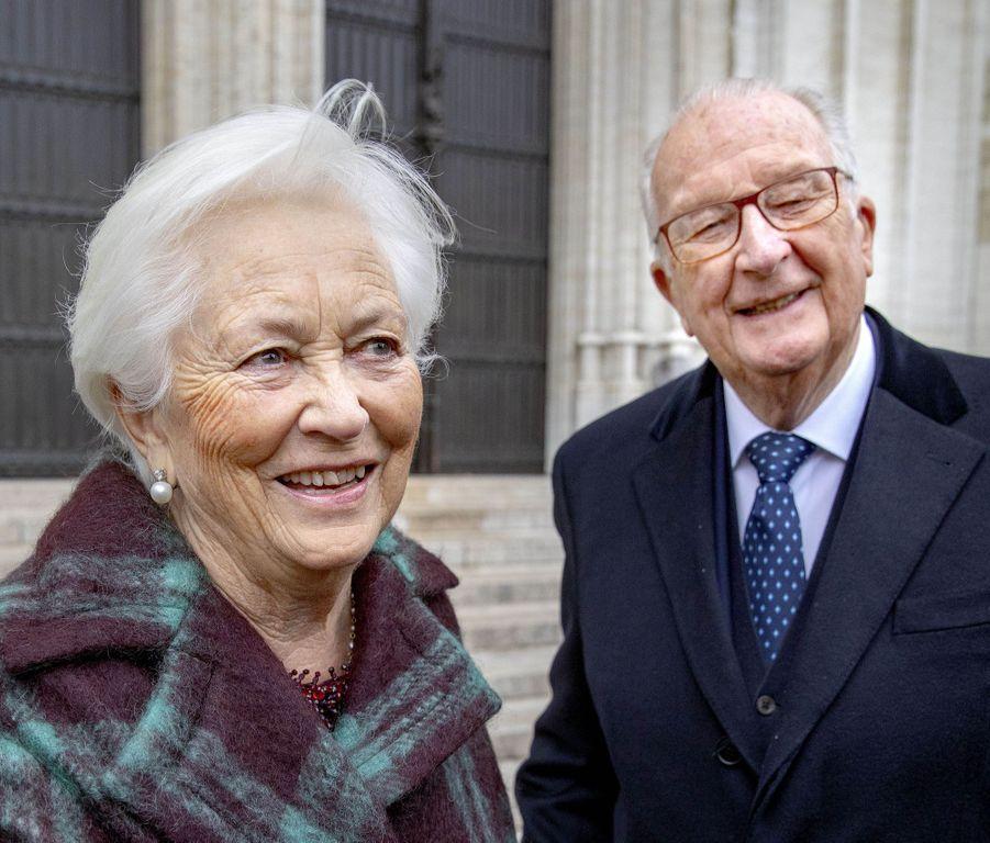 L'ancienne reine Paola et l'ancien roi des Belges Albert II à Bruxelles, le 15 novembre 2019
