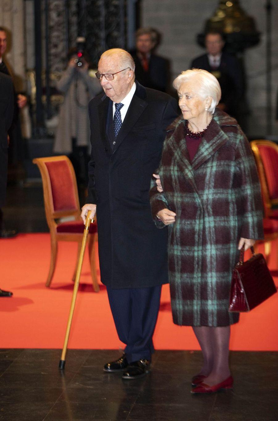 L'ex-roi des Belges Albert II et l'ex-reine Paola à Bruxelles, le 15 novembre 2019