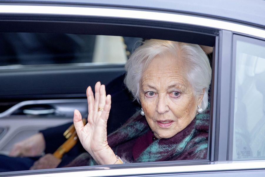 L'ex-reine des Belges Paola à Bruxelles, le 15 novembre 2019