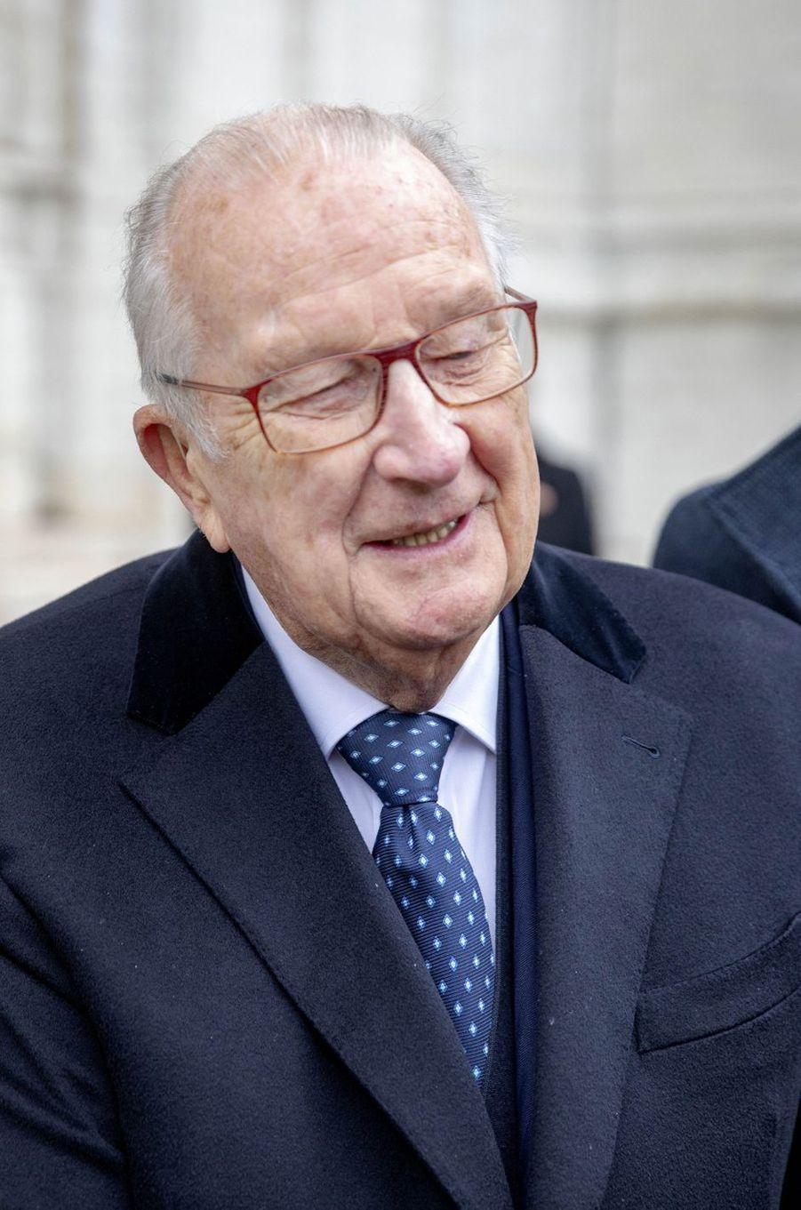L'ex-roi des Belges Albert II à Bruxelles, le 15 novembre 2019