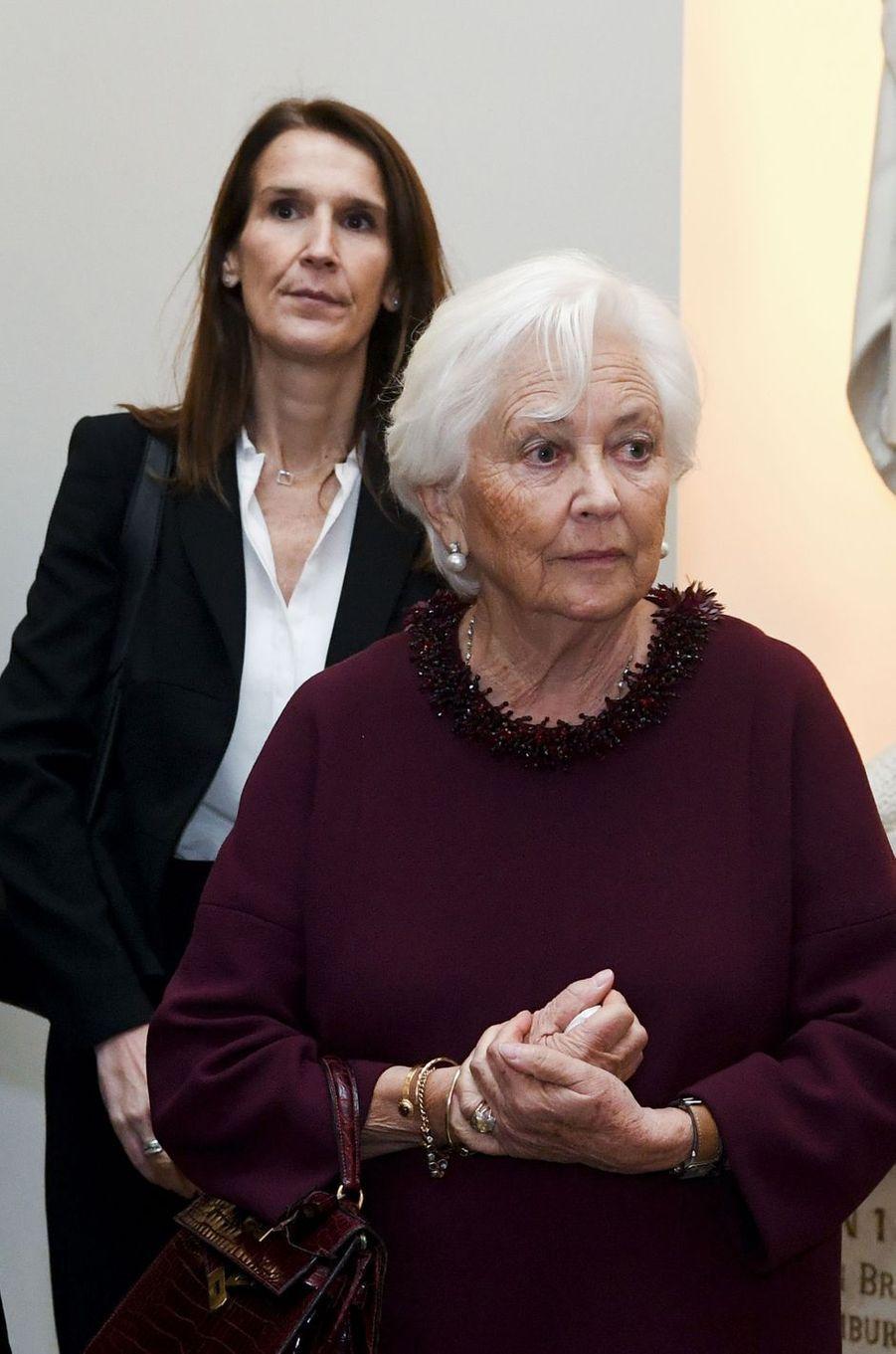 L'ex-reine des Belges Paola avec la nouvelle Première ministre de Belgique à Bruxelles, le 15 novembre 2019