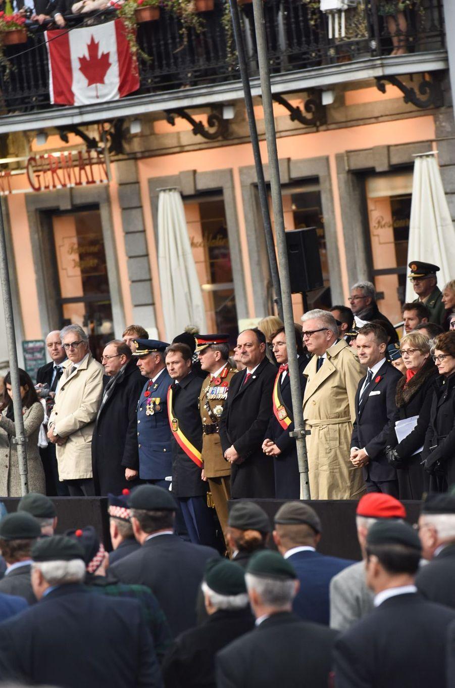 Le prince Laurent de Belgique à Mons, le 11 novembre 2018