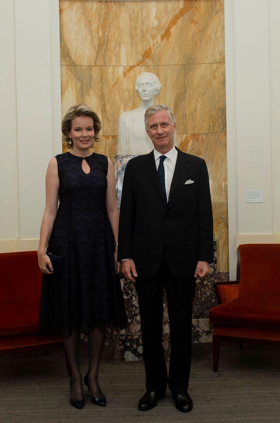La reine Mathilde et le roi des Belges Philippe à Bruxelles, le 11 novembre 2018