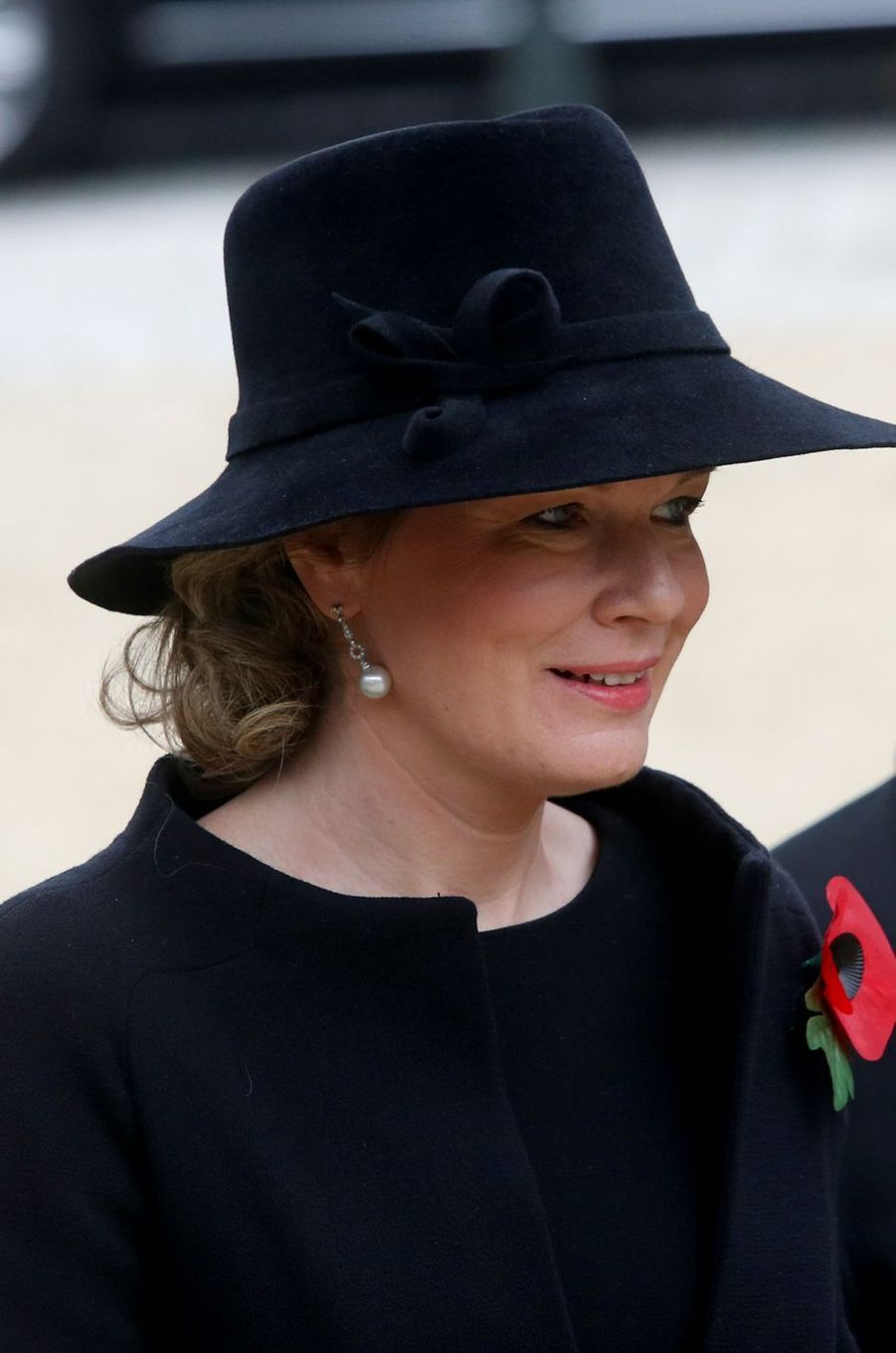 La reine Mathilde de Belgique à Bruxelles, le 11 novembre 2018