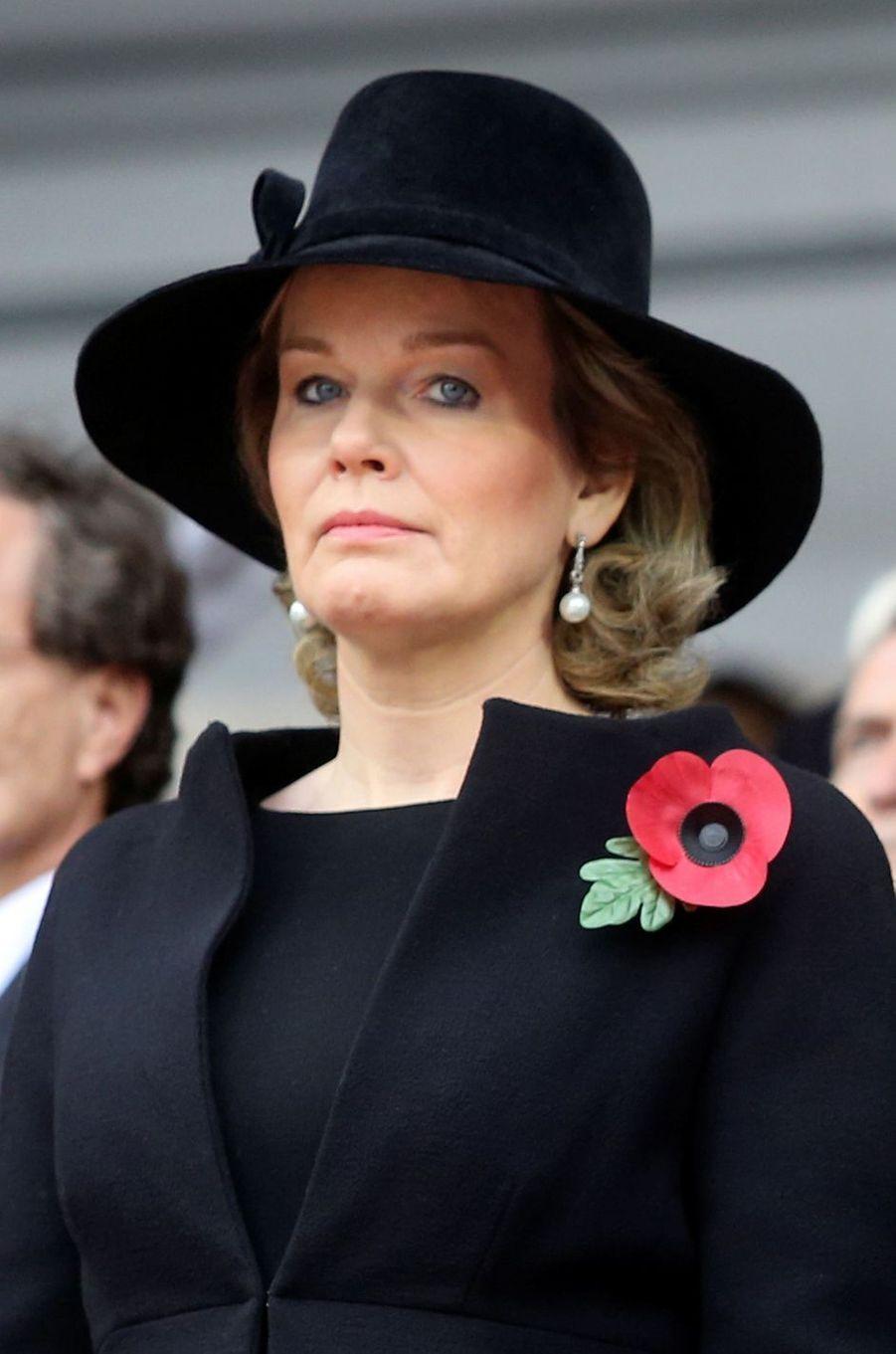 La reine des Belges Mathilde à Bruxelles, le 11 novembre 2018