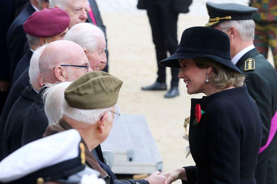 La reine Mathilde de Belgique et le roi des Belges Philippe à Bruxelles, le 11 novembre 2018