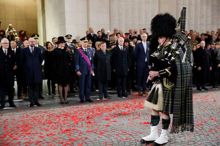 La reine Mathilde et le roi des Belges Philippe à Ypres, le 11 novembre 2018
