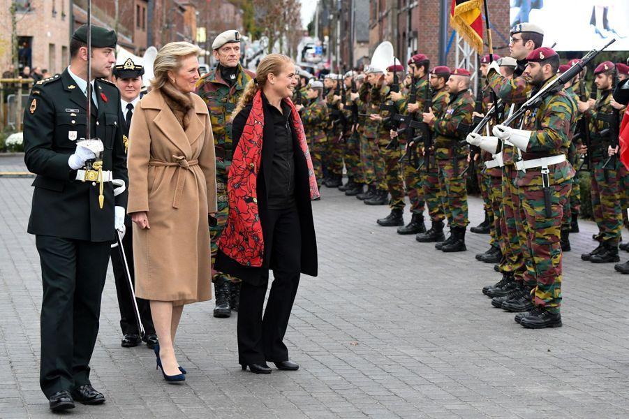 La princesse Astrid de Belgique à Ville-sur-Haine, le 10 novembre 2018