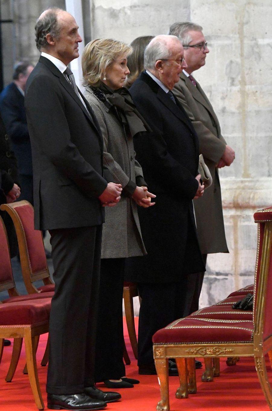 La famille royale de Belgique à Bruxelles, le 15 novembre 2018