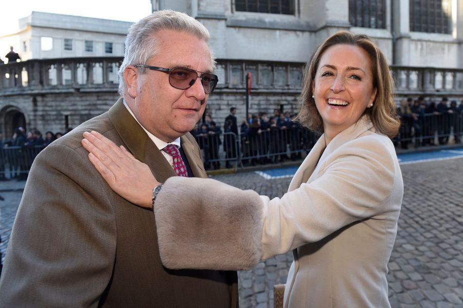 La princesse Claire et le prince Laurent de Belgique à Bruxelles, le 15 novembre 2018