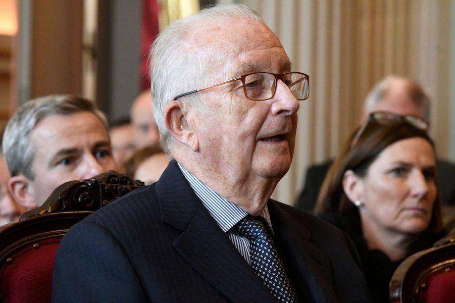 L'ancien roi des Belges Albert II à Bruxelles, le 15 novembre 2018