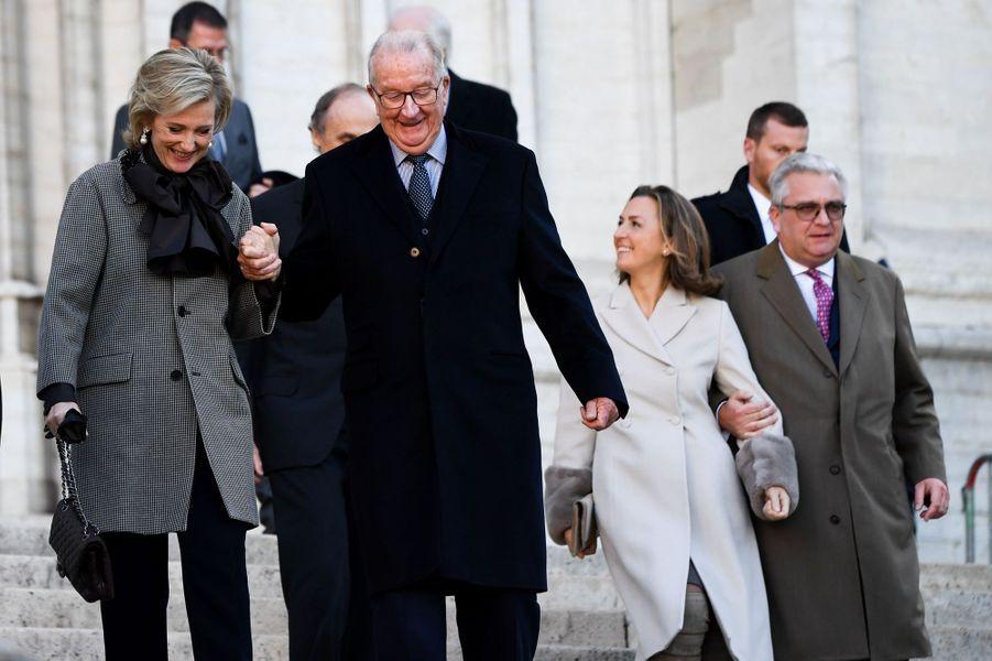 La famille royale de Belgique, à Bruxelles le 15 novembre 2018