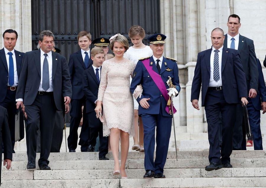 La famille royale belge célèbre la fête nationale