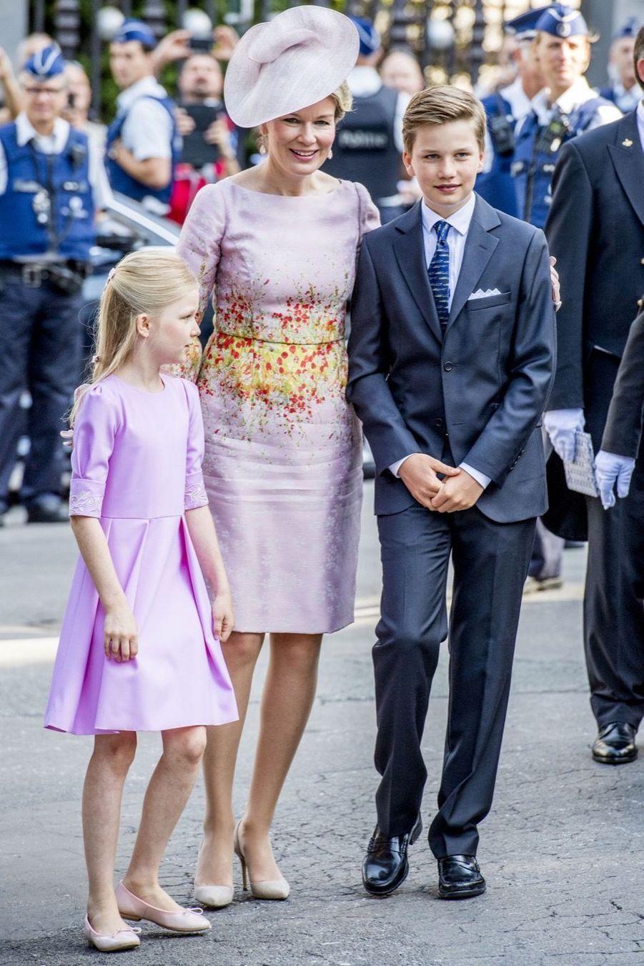 La Famille Royale Belge À La Cathédrale Saints Michel et Gudule De Bruxelles 1