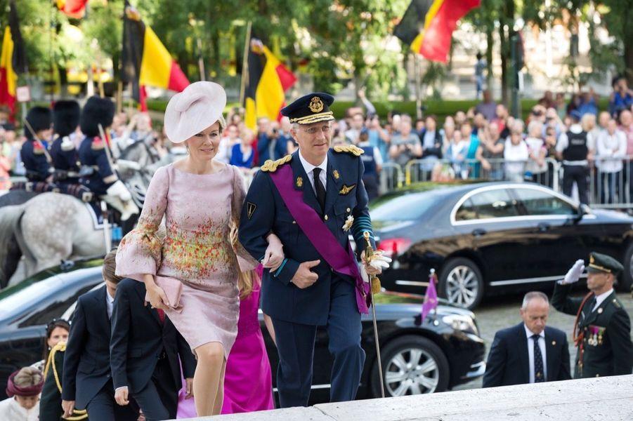 La Famille Royale Belge À La Cathédrale Saints Michel et Gudule De Bruxelles 10