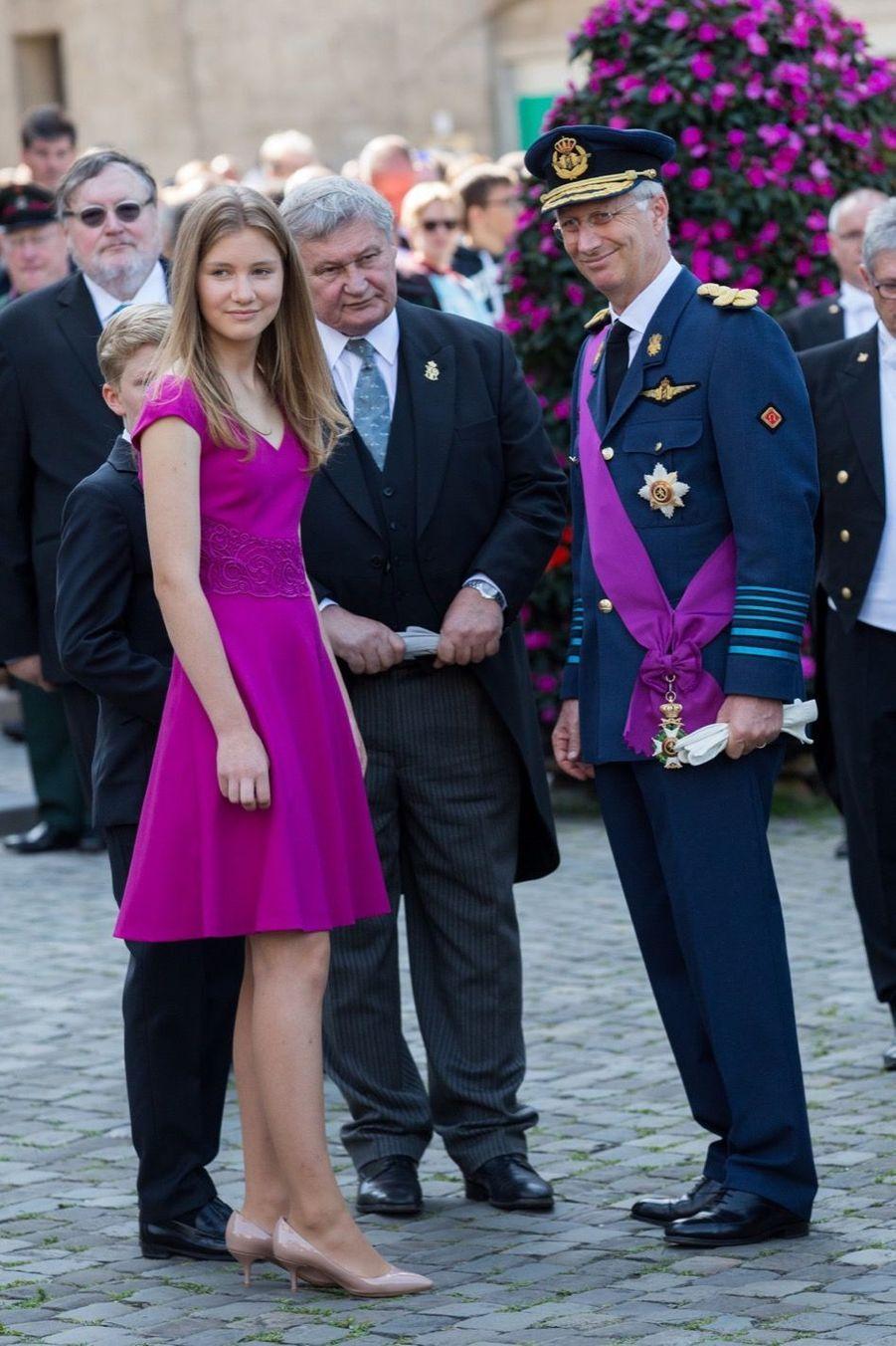 La Famille Royale Belge À La Cathédrale Saints Michel et Gudule De Bruxelles 11