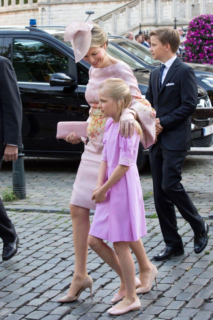 La Famille Royale Belge À La Cathédrale Saints Michel et Gudule De Bruxelles 13