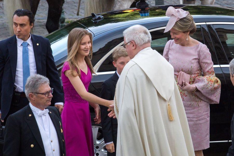 La Famille Royale Belge À La Cathédrale Saints Michel et Gudule De Bruxelles 14